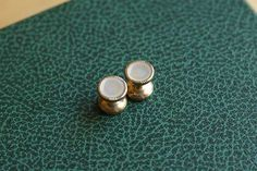 White French vintage mother of pearl chain cufflinks
