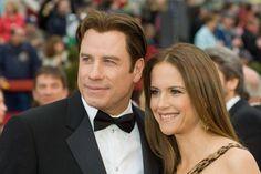 John Travolta and Kelly Preston. I think they're adorable! John Travolta Kelly Preston, Famous Couples, Rihanna, Celebs, People, Desktop, Magazine, News, Amp
