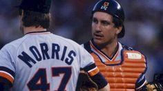 1984 Detroit Tigers  Lance Parrish and Jack Morris