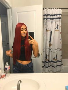 Red Wigs Lace Frontal Wigs Berry Red Hair Red Flapper Wig Red Wine Hair Colour Mint Green Frontal Blonde With Red Deep Red Hair, Long Red Hair, Real Hair Wigs, Long Hair Wigs, Frontal Hairstyles, Baddie Hairstyles, Red Hair Inspo, Wine Hair, Hair Streaks