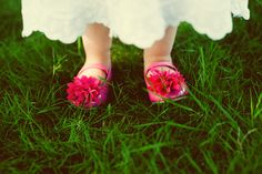 Little pink flower girl shoes by Kate Connolly Photography