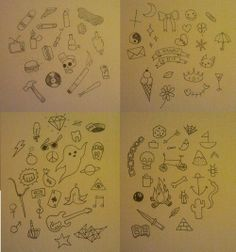 Some ideas if you can't think of anything to tattoo on yourself :)
