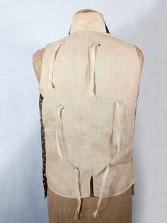 18th Century Vintage Clothing: #1683 Gentleman's waistcoat at Vintage Textile