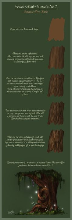 Mini-Tutorial No.7 - Gnarled Tree Bark - by ^ValaSedai on deviantART