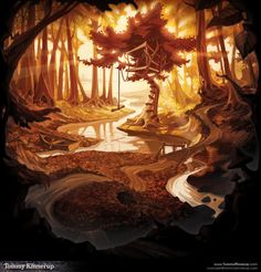 Environment Design by Tommy Kinnerup, via Behance