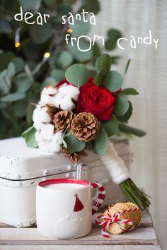 cotton flower christmas bouquet