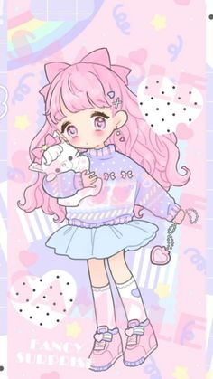 ☆.。.:*・°Gloraeanna  ̥̊。.:*・°☆  Fancy Surprise   Kawaii art pastel cute drawing illustration anima manga