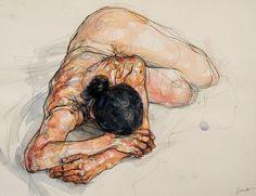 Artist / Sylvie Guillot. #painting #paint #paintings #art #artists #artist #female #model #color #artwork #work
