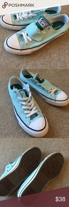 Mint Green Converse In great condition. Daughter just outgrew them. Converse Shoes Sneakers