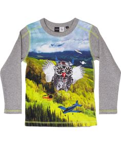 Molo Fine Ribbed Owl Space T-shirt