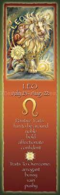 Zodiac Series / Leo - Bookmark  by Jody Bergsma