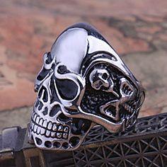 anello degli uomini di titanio acciaio perdere Rose® cranio – EUR € 9.99