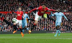 Smalling scores. Manchester United v Manchester City