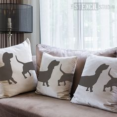 Dachshund dog Stencil from The Stencil Studio. Reusable, easy to use. Size 14 x 8.5 inches. 10053M
