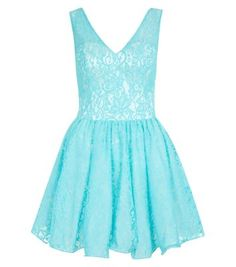 Chi Chi Mint Green Lace Prom Dress - New Look