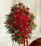 Striking Red Funeral Sprays. www.flowersonly.com #funeralflower-funeral-spray