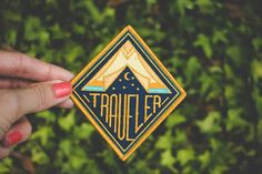 Traveler Embroidered Patch by AsildaStore on Etsy
