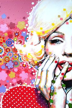 Pop Art by Amylee Jasper Johns, Arte Pop, Illustrations, Illustration Art, Richard Hamilton, Marilyn Monroe Pop Art, Pop Art Images, Art Watercolor, Roy Lichtenstein