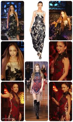 Credit Amurofocus: On Amuro Namie:  Shiatzy Chen 2011 & Versace Fall 2014