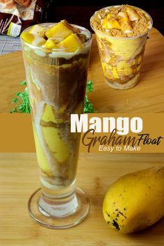 Mango Graham Shake/Float Like Maxi Mango. A very popular Shake and Dessert for this kind of season. Made by fresh ripe Mango and Crushed Graham. #mango #mangograhamshake #mangofloat Filipino Food, Filipino Recipes, Mango Graham, Mango Float, Non Alcoholic Cocktails, Home Health Remedies, Easy To Make Desserts, Mango Recipes, Desserts Menu