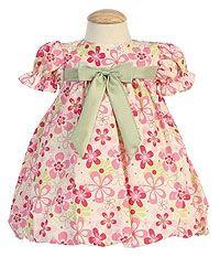 Flower Girl Dress Style M639- Short Sleeved Floral Dress