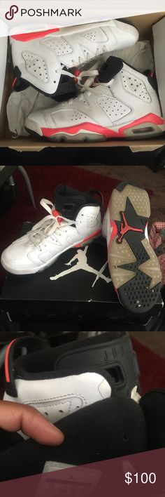 Air Jordan 6 Retro PRICE NEGOTIABLE (Gradeschool- 4Y=6 in Women's) All marks can be wiped with a wet towel. It's just dirt. Jordan Shoes Sneakers