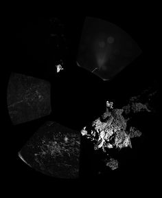 Rosetta spacecraft%u2019s lander Philae captured the first panoramic image from the surface of a comet. Philae landed upon Comet 67P/Churyumov%u2013Gerasimenko on Nov. 12, 2014.