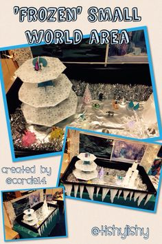 Created by my student. Frozen small world play area