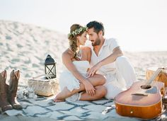End of Summer Bohemian Shoot on the Beach | Green Wedding Shoes Wedding Blog | Wedding Trends for Stylish + Creative Brides