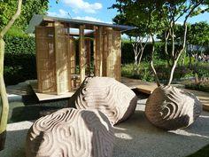 Laurent Perrier Garden by Luciano Giubbilei Garden Art, Garden Design, Laurent Perrier, Stone Sculptures, Outdoor Spaces, Landscape Design, Creative Ideas, Gazebo, Burberry