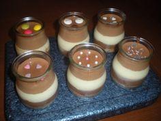 Vasitos de tres chocolates para un postre muy especial!!