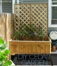 Learn how to make your own cedar garden planter with the easy tutorial from Inspiration for Moms.