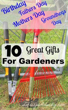 The 10 best gifts to get a gardener - Whether it's Christmas, Mothers Day, Fathers Day, Birthday or Groundhogs day, we have lots of ideas. After you read this, you will know what to get your gardener loved one.