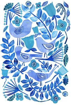 Blue Birds by Tracey english www.tracey-english.co.uk