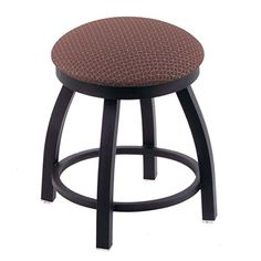 """Holland Bar Stool Co. 802 Misha Vanity Stool with Black Wrinkle Finish and Swivel Seat, 18"""", Axis Willow"""