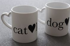 Catlover oder Doglover? :-)  #tasse #mugs #catlover #doglover Cat Lover, Dog Cat, Mugs, Tableware, Special Gifts, Dinnerware, Tumblers, Dishes, Mug