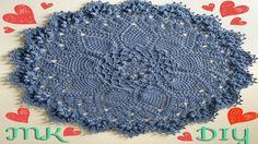 "Ковер крючком из шнура ""Гранд"" 1-3 ряд. МК Crochet doily rug. 1-3 rows DIY"