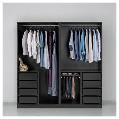 26 Super Ideas For Bedroom Wardrobe Ideas Ikea Pax Suits Wardrobe Design Bedroom, Bedroom Wardrobe, Wardrobe Closet, Wardrobe Ideas, Black Wardrobe, Ikea Bedroom, Bedroom Cupboard Designs, Bedroom Cupboards, Ikea Closet