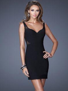 Sheath/Column Straps Sleeveless Short/Mini Lace Dresses - Tight Homecoming Dresses - Homecoming Dresses