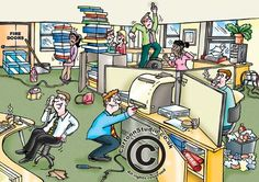 Office Hazards cartoon, health and safety cartoons, occupational health and safety, spot-the-safety-hazards cartoon Health And Safety Poster, Safety Posters, Office Safety, Workplace Safety, Safety Cartoon, Caricature, Take Care Of Yourself Quotes, Safety Pictures, Construction Safety