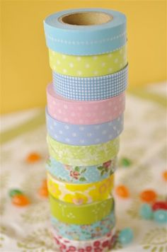 Washi tape is a must for creative wrapping - & it's huge in the crafting world right now. Midway through the linked article there are 4 sources for where to buy it!