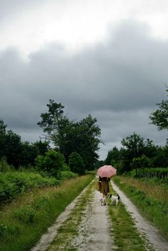 ~taking a walk down a country road in the rain~