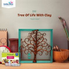 Let your creativity run wild with Fevicryl Shilpkar! This out of the box tree is made using clay modelling and stuck onto an ordinary frame, turning it into an innovative work of art. Adorned with a bird cage to match, this Tree of Life is a home décor masterpiece!