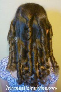 bandana no heat curls http://pinterest.com/NiceHairstyles/hairstyles/