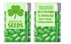 St. Patricks Day Shamrock Seeds Mints Tic Tac by CustomWrappers4U, $3.75