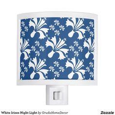 White Irises Night Light