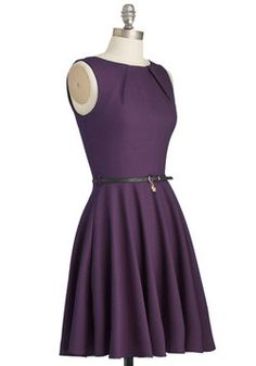 Luck Be a Lady Dress in Violet, #ModCloth