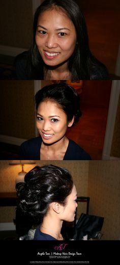 LONG BEACH MARRIOTT WEDDING MAKEUP ARTIST and HAIR STYLIST TEAM – ANGELA TAM | LINDA ST JOHN | LOS ANGELES
