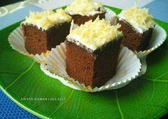 Cake Potong Coklat Lembut Mochi Cake, Cake Receipe, Resep Cake, Petit Cake, Snack Box, Indonesian Food, Asian Recipes, Chocolate Cake, Bakery