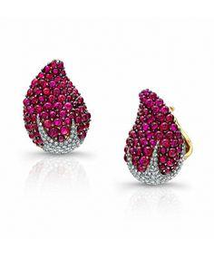 Martin Katz Strawberry Clip-On Earrings